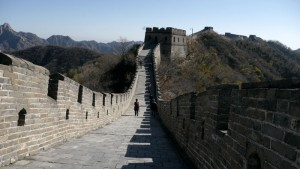 Walking along the Great Wall