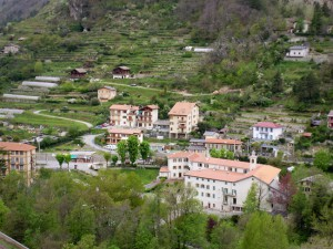 Buildings and terraces in Ste-Dalmas de Tende
