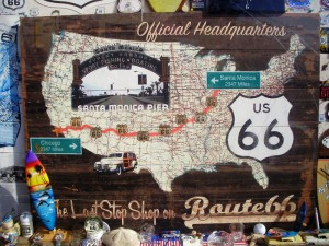Some displays regarding route 66