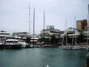 Boats around the harbour