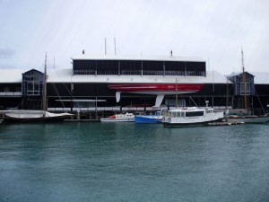 The National Maritime Museum, decorated with yachts