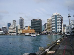 The Auckland skyline from the wharf